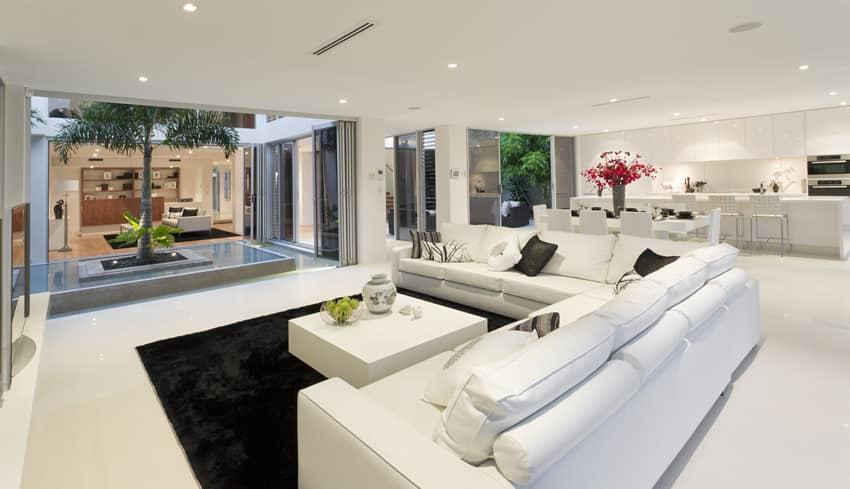 beautiful white themed living room design beautiful white living room
