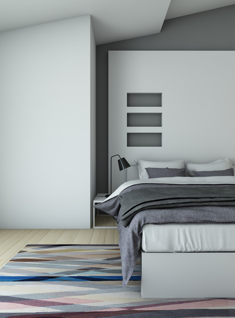 Contemporary grey design bedroom