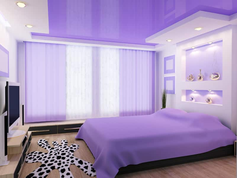 Image gallery light purple room for Purple bedroom designs modern