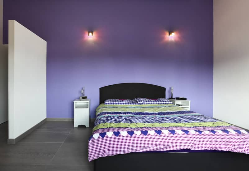 Cute purple themed room