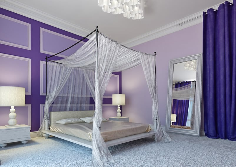 25 purple bedroom designs and decor designing idea for Purple bedroom design ideas