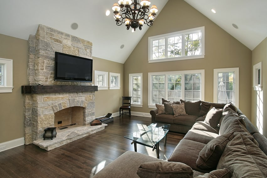 Living Rooms With Wrought Iron Fireplace