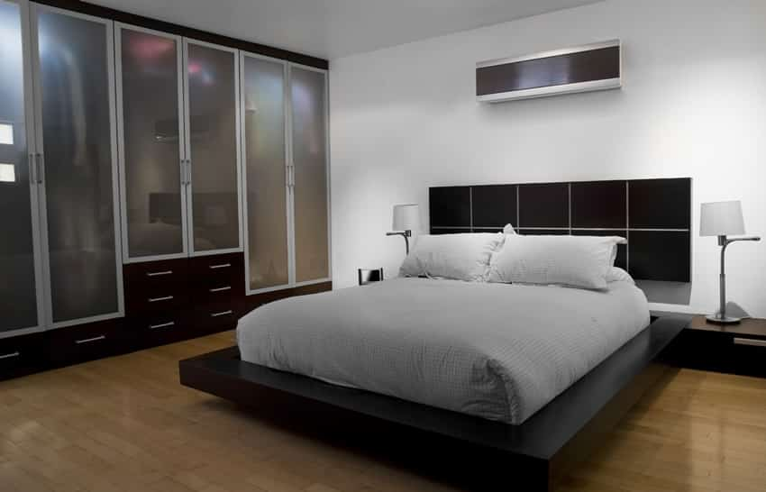 Minimal bedroom design black theme