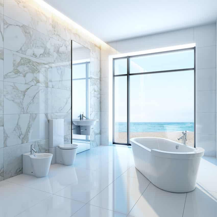 Bathroom Ideas White Tub : White bathroom ideas design pictures designing idea