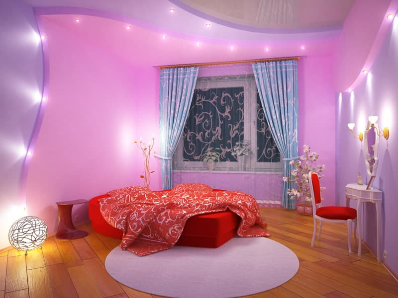 25 purple bedroom designs and decor designing idea for Purple and pink bedroom ideas