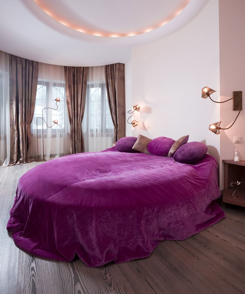 25 purple bedroom designs and decor designing idea Romantic bed designs