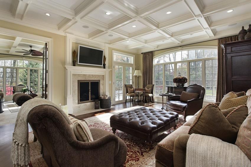 67 luxury living room design ideas designing idea for Mansion living room designs