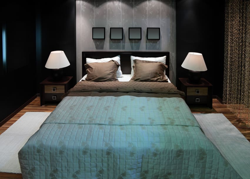 Affluent bedroom modern decorations