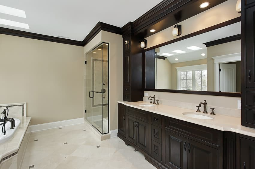 white tile bathrooms