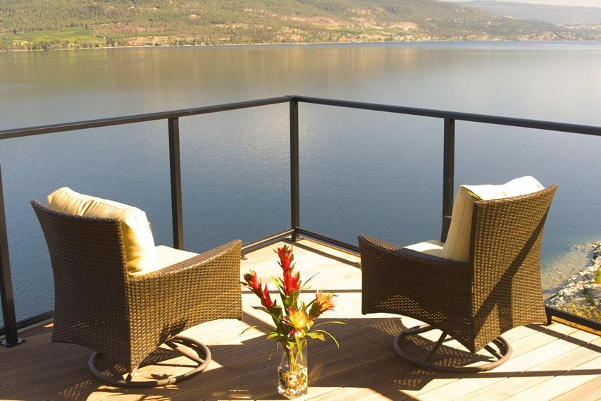 Beautiful lake front sun deck