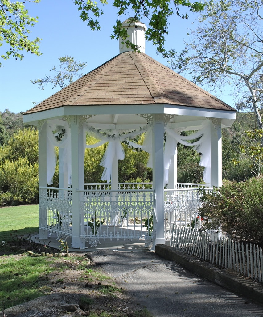 Beautiful white wedding gazebo