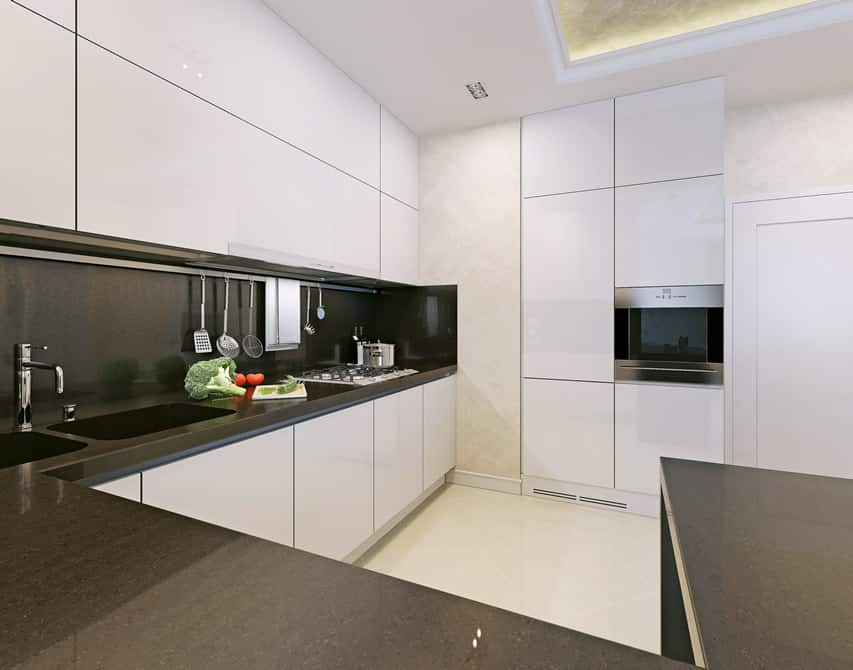 17 small kitchen design ideas designing idea for White and black kitchen designs