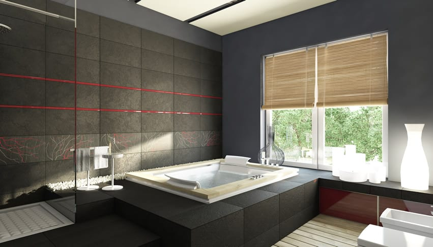 Modern Zen-inspired bathroom