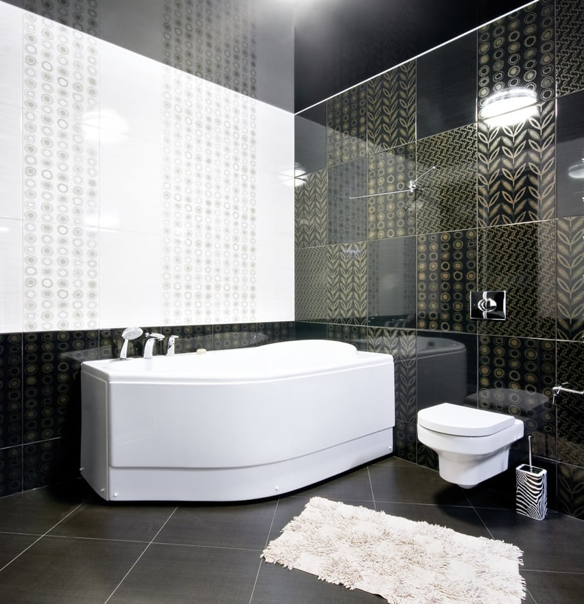 Modern eclectic bathroom and toilet fixtures with unconventional forms and shapes