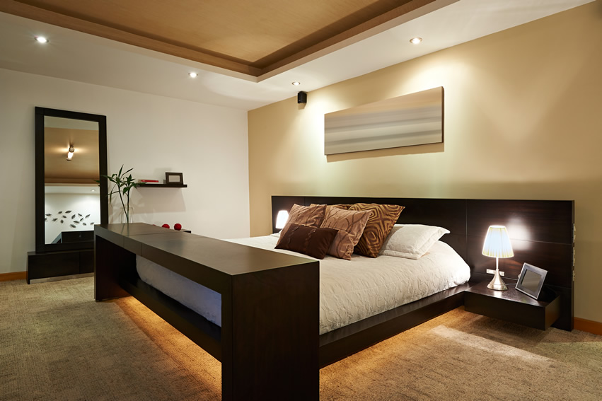 Brown themed modern design bedroom