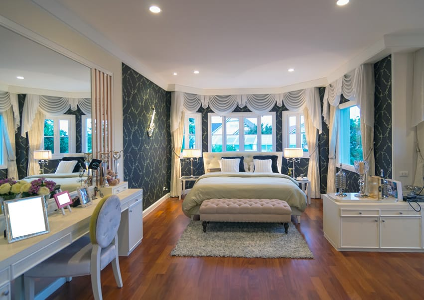 Custom designed bedroom luxury modern style