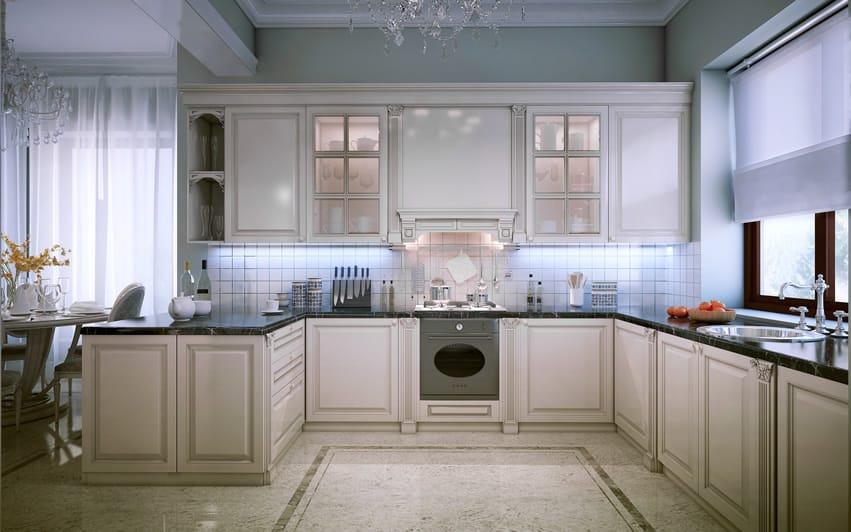 143 luxury kitchen design ideas designing idea for Luxury elegant kitchen designs