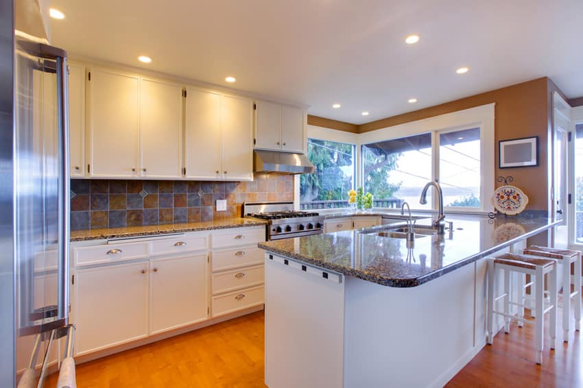 J shaped kitchen small design