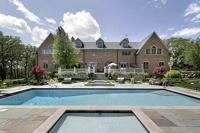 Large home with backyard swimming pool