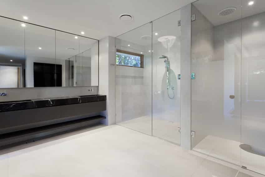 Modern bathroom design that is simple with masculine style