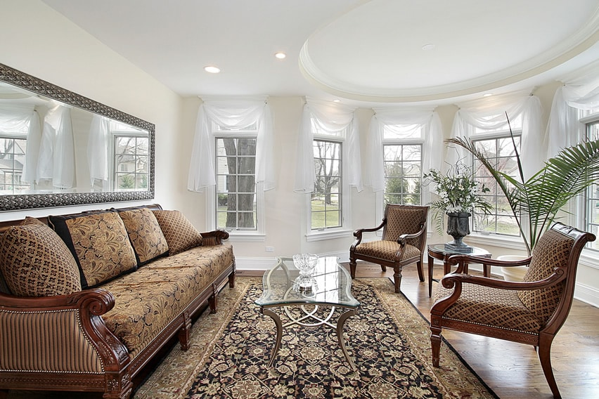 White Living Room Curtains: 67 Luxury Living Room Design Ideas