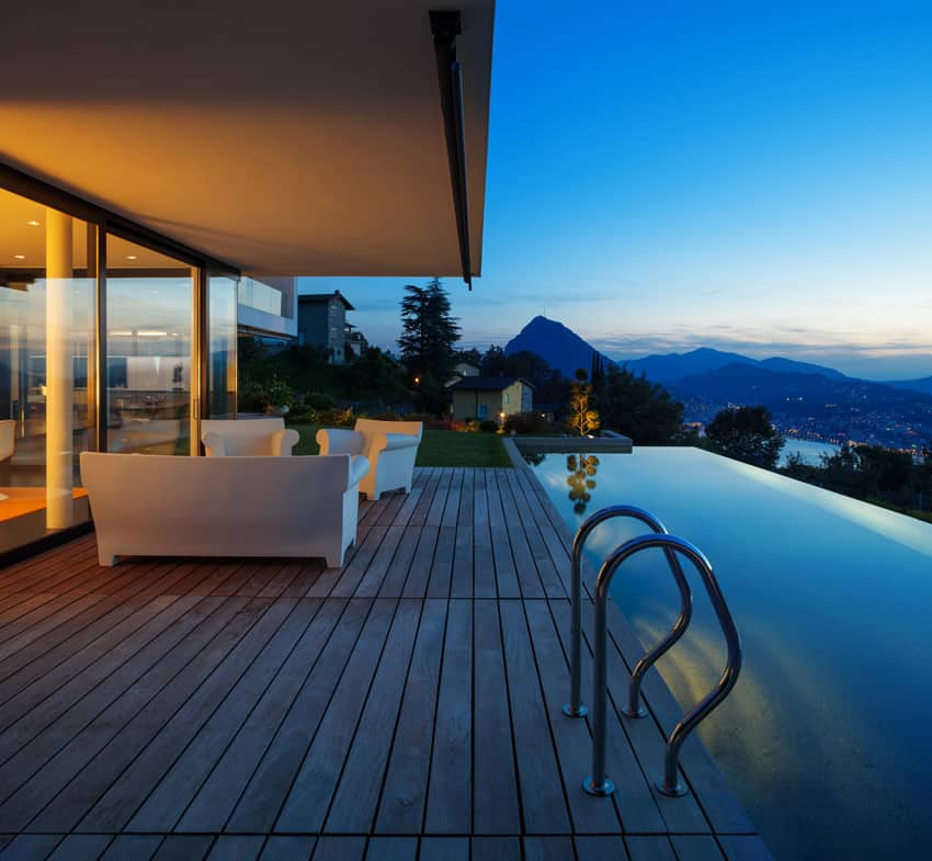 Luxury swimming pool with beautiful views