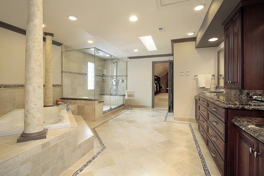 57 luxury custom bathroom designs tile ideas designing for How big is a bathtub