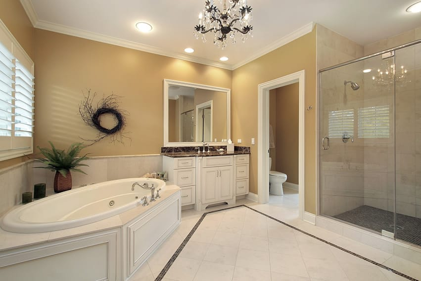 57 luxury custom bathroom designs tile ideas designing for Master bathroom flooring