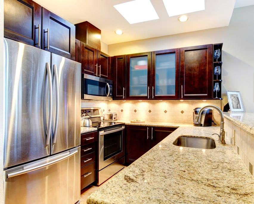 17 small kitchen design ideas designing idea for Foreign kitchen designs