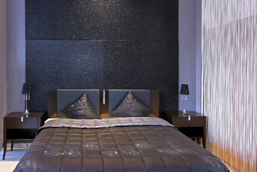 Sparkle modern bedroom dark design