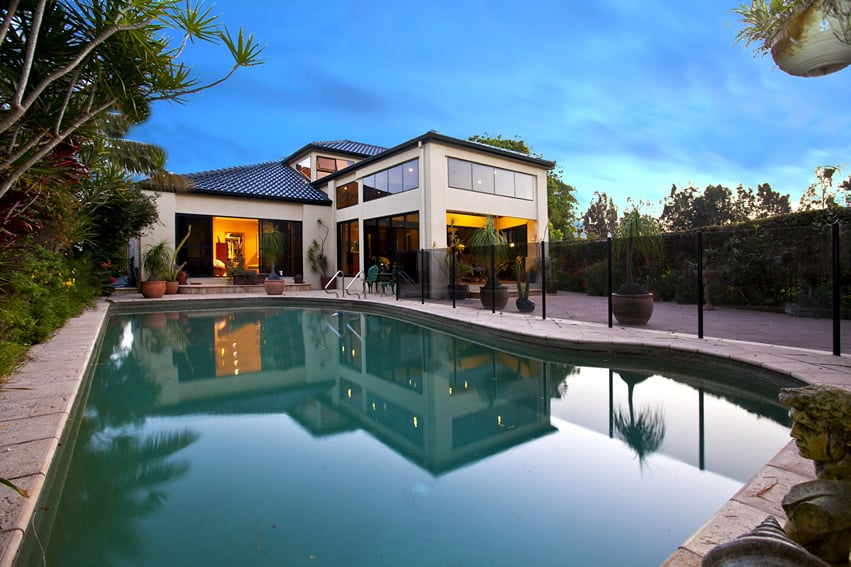 Swimming pool at attractive home