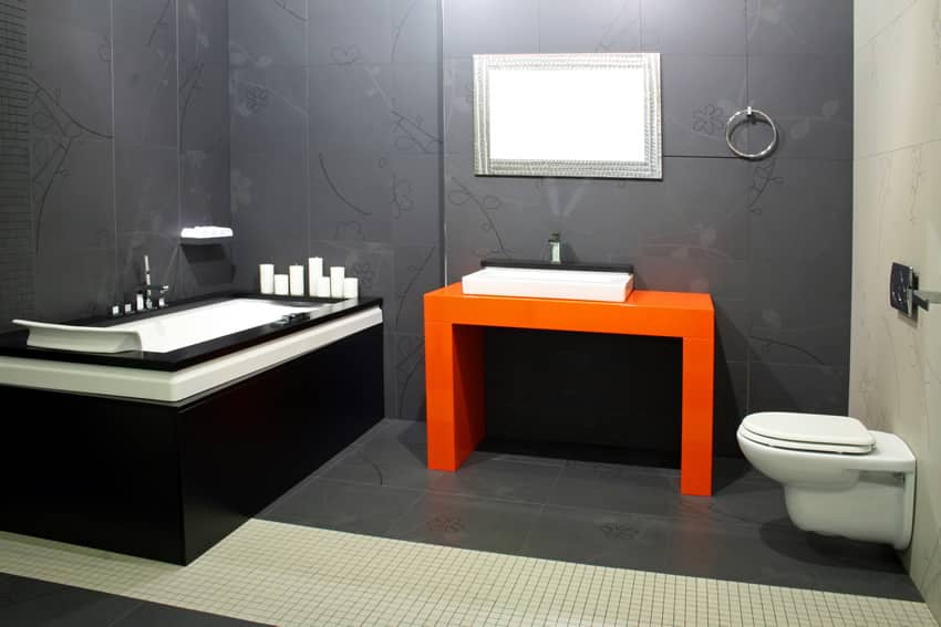 Modern minimalist design with ceramic tiles