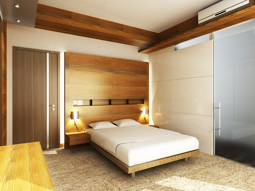 Wood modern design bedroom hotel style