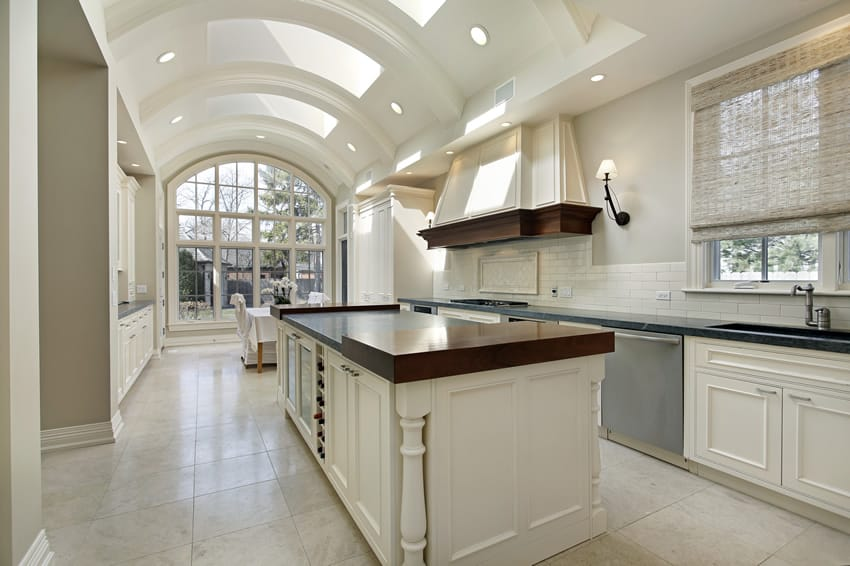 Beautiful white kitchen in million dollar home