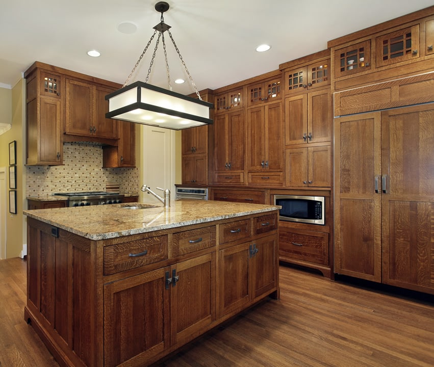 Beautiful wood cabinet kitchen with a lot of storage