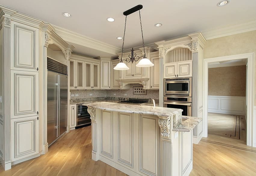 Kitchen in luxury home in white