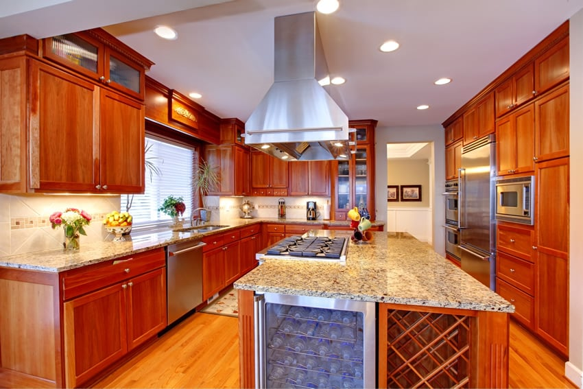 Kitchen with upscale stainless appliances