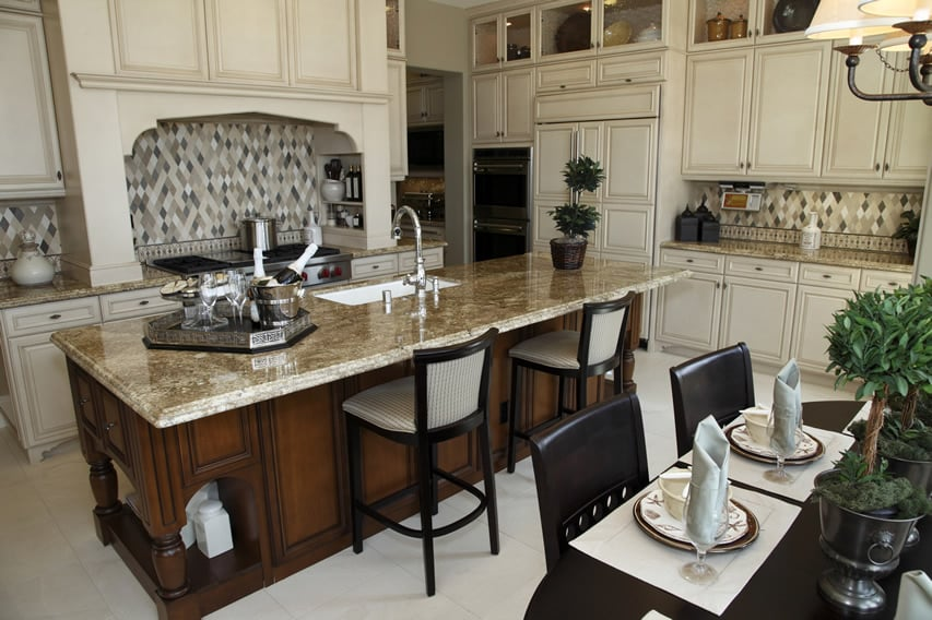 Luxury Kitchen Ideas Counters, Backsplash  Cabinets  Designing Idea