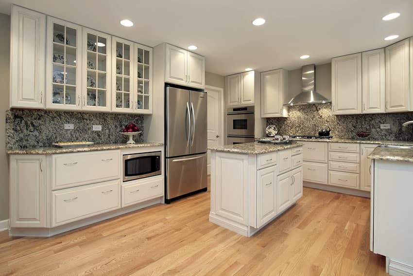 White and black granite kitchen