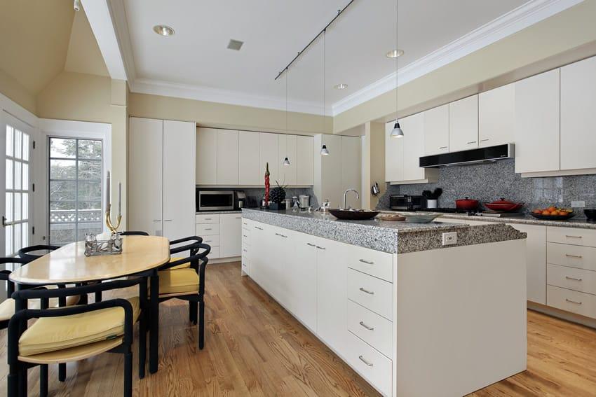 White kitchen with modern style