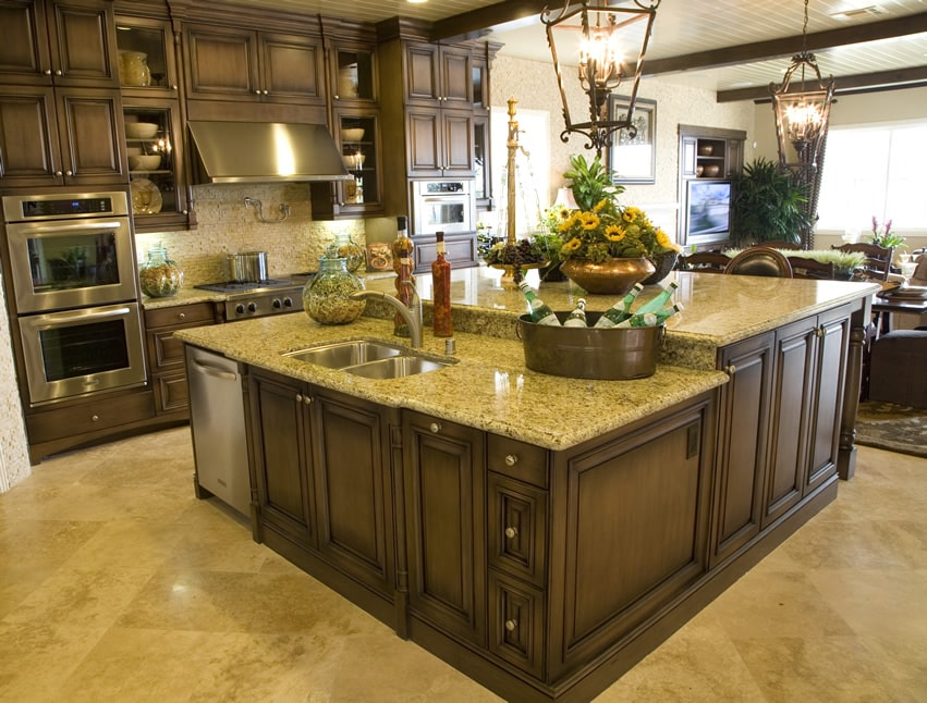 Kitchen Islands With Wall Around Seating