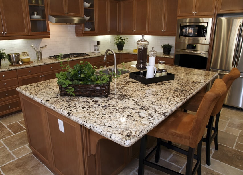 Gallery Of Small L Shd Kitchen With Island Design Area photo - 8