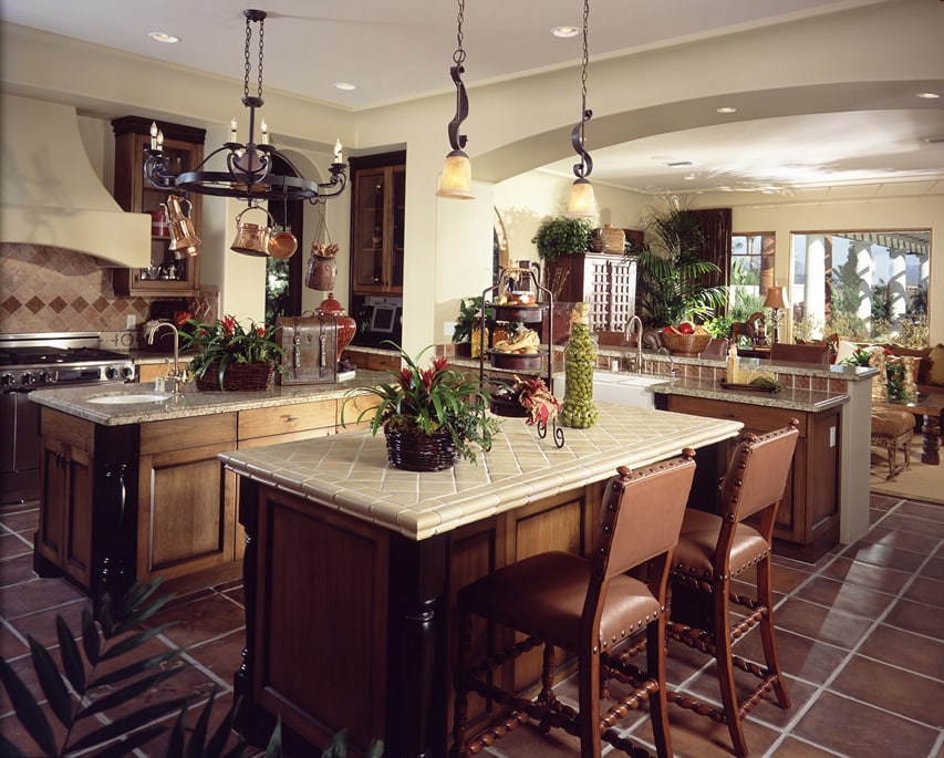 Luxury kitchen with two islands