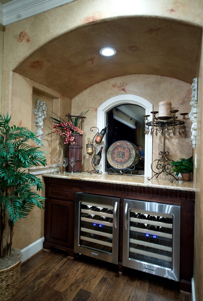 Wine bar in luxury home
