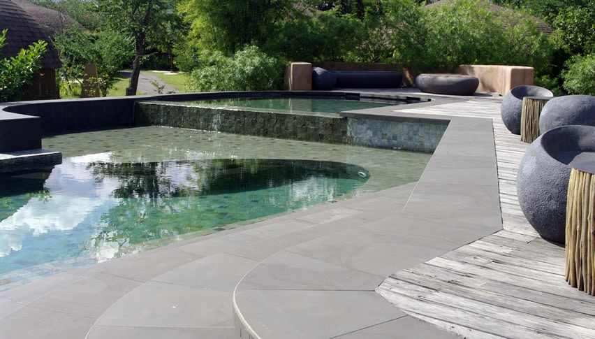 Architecture inspired pool with modern decor