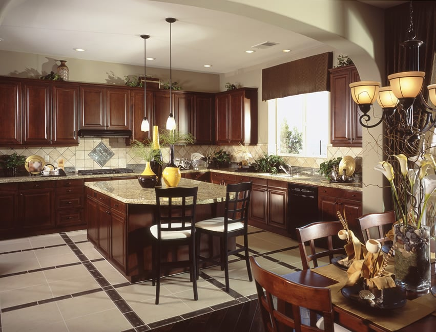 shaped kitchen designs with an island are very effective due to