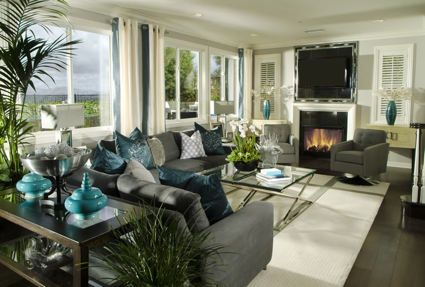 Casual luxury living room with comfy couches