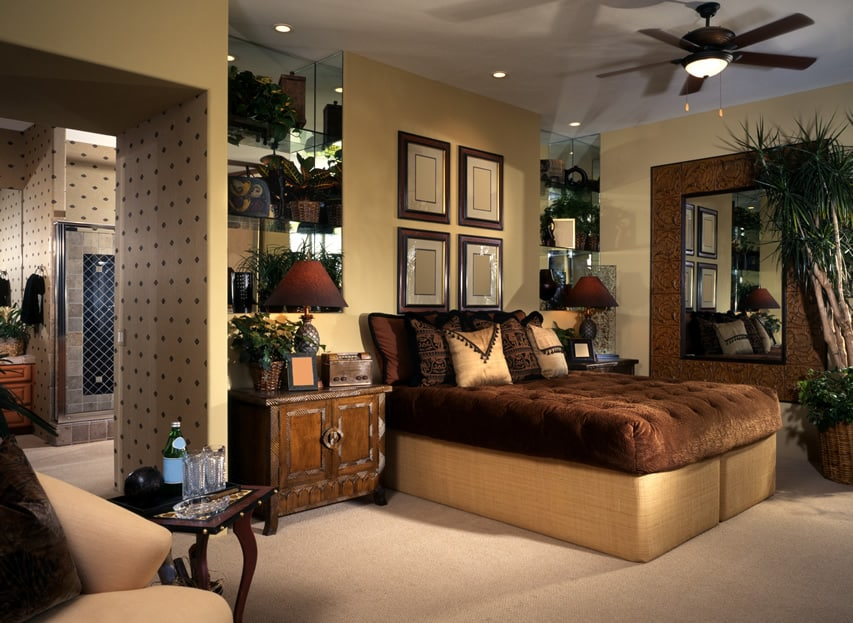 Custom design master bedroom and bath