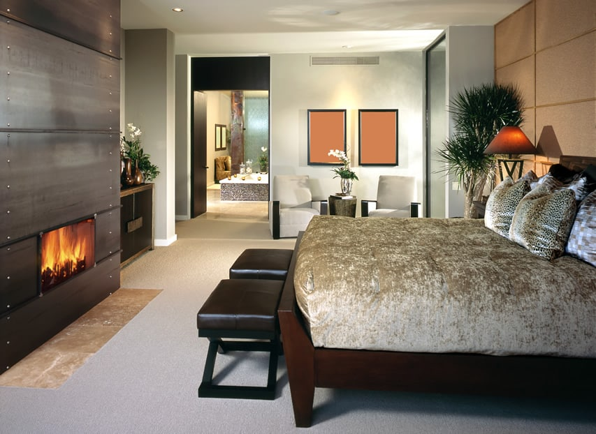 50 luxury designer bedrooms pictures designing idea Master bedroom with fireplace images