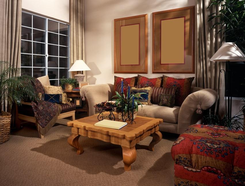 Furnished formal living room design